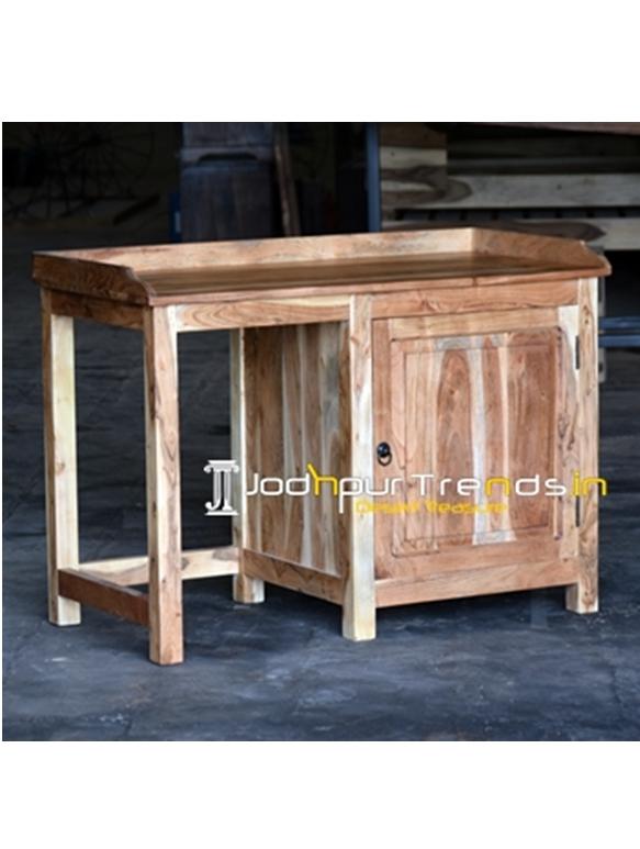 Solid Acacia Wood Natural Finish Study Table