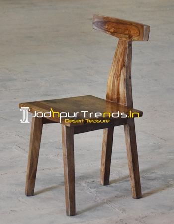Solid Indian Rose Wood Walnut Shade Restaurant Chair