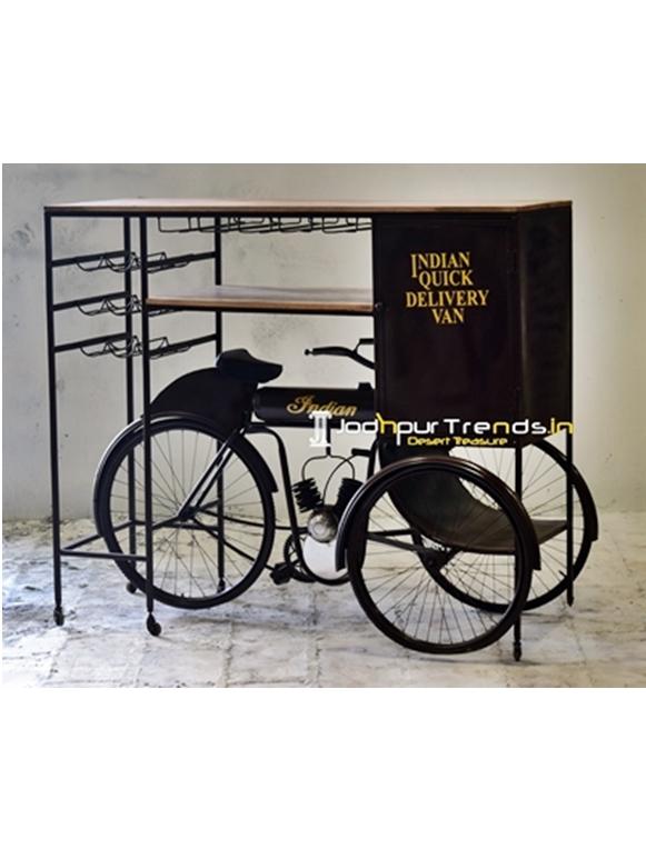Unique Design Automobile Bar Cabinet on Cycle